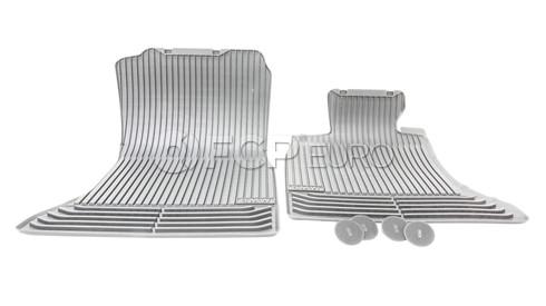 BMW Black All-Weather Floor Mat Set Front (F10) - Genuine BMW 51472153725