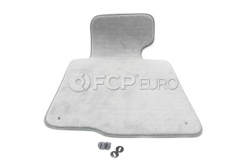 BMW Floor Mat Velours Driver Side (Grey) - Genuine BMW 51477007845