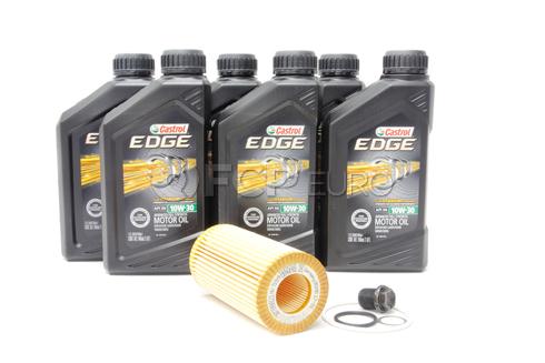 Volvo Oil Change Kit 10W-30 (C30 S40 V50 C70) - Castrol KIT-P110W30SERVICE1V1