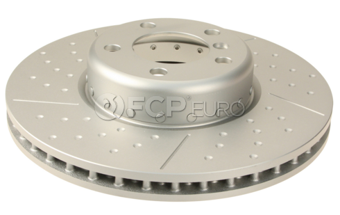 BMW Brake Disc Crossed Drilled and Slotted - Genuine BMW 34106797602