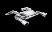 BMW Slip On Titanium Axleback Exhaust System With Titanium Tips - Akrapovic MTP-BME90/91/335