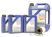 VW Audi Oil Change Kit 5W-40 - Liqui Moly KIT-079198405E.9L