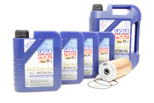 Mercedes Oil Change Kit 5W-40 - Liqui Moly KIT-515669