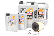 VW Audi Diesel Oil Change Kit 5W-30 - Liqui Moly KIT-07Z115562.12L