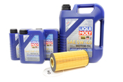 Mercedes Diesel Oil Change Kit 5W-40 - Liqui Moly OM3