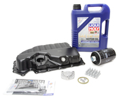 Audi VW Oil Pan Kit with Oil - Vaico / Liqui Moly 06J103600AFKT2