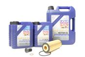 Mercedes Oil Change Kit 5W-40 - Liqui Moly 2781800009.9L.Dual