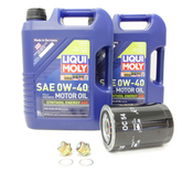 Porsche Engine Oil Change Kit (0W-40) - Liqui Moly/Mahle 528976KT
