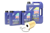 Porsche Oil Change Kit 0W-40 - Liqui Moly KIT-538473