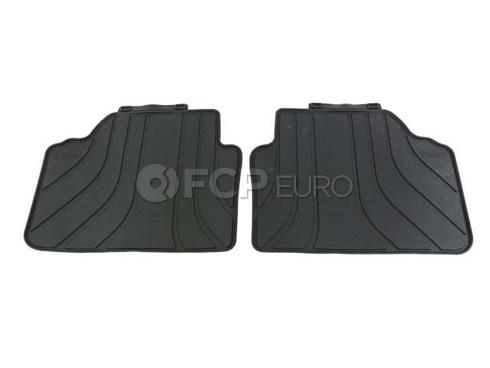 BMW Rubber Floor Mats Black Rear (E90 X Series) - Genuine BMW 51472336599