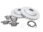 BMW Brake Kit - Zimmermann/Textar 34212283803KT3
