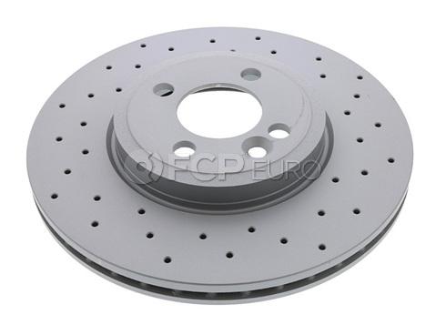 MINI Drilled Brake Disc (R52 R53 R55 R56) - Zimmermann 34116858652