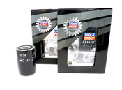 Porsche Engine Oil Change Kit (20W50) - Liqui Moly/Mahle 539009