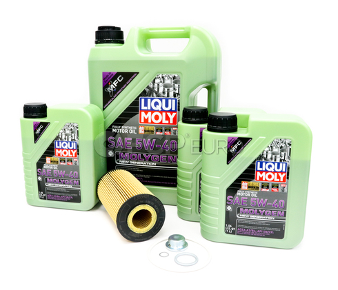 VW Audi Oil Change Kit 5W-40 - Liqui Moly Molygen KIT-079198405A-8LM