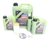 Mercedes Oil Change Kit 5W-40 - Liqui Moly Molygen 0001802609.8L