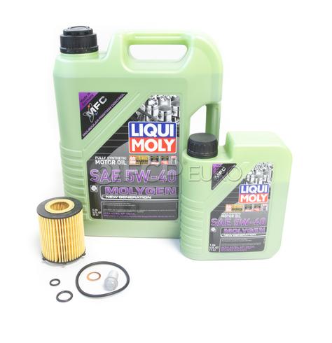 Mercedes Oil Change Kit 5W-40 - Liqui Moly Molygen 2701800109.6L