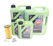 Mercedes Oil Change Kit 5W-40 - Liqui Moly Molygen 2751800009.11L