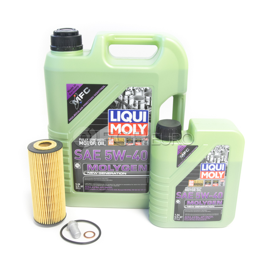 Mercedes Oil Change Kit 5W-40 - Liqui Moly Molygen 2781800009.6L