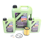 Mercedes Oil Change Kit 5W-40 - Liqui Moly Molygen 2701800109.7L