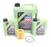 BMW Oil Change Kit 5W-40 - Liqui Moly Molygen 11427854445KT1.LM