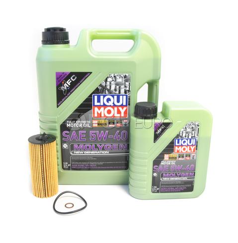 BMW Oil Change Kit 5W-40 - Liqui Moly Molygen 11428575211.LM1