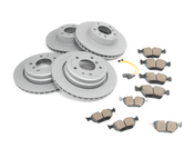 BMW Brake Kit - Zimmermann/Akebono 34116756090KTFR1