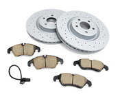 Audi VW Brake Kit - Zimmermann/Akebono 4G0615301KT
