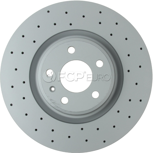 Audi Drilled Brake Disc - Zimmermann 8W0615301AB