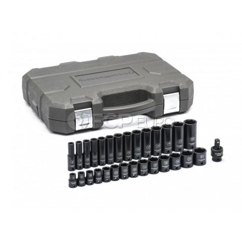 "29 Pc. 3/8"" Drive 6 Point Standard & Deep Impact Metric Socket Set - Gearwrench 84925N"