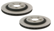 Jaguar Brake Disc Rotor Set - TRW JLM020802