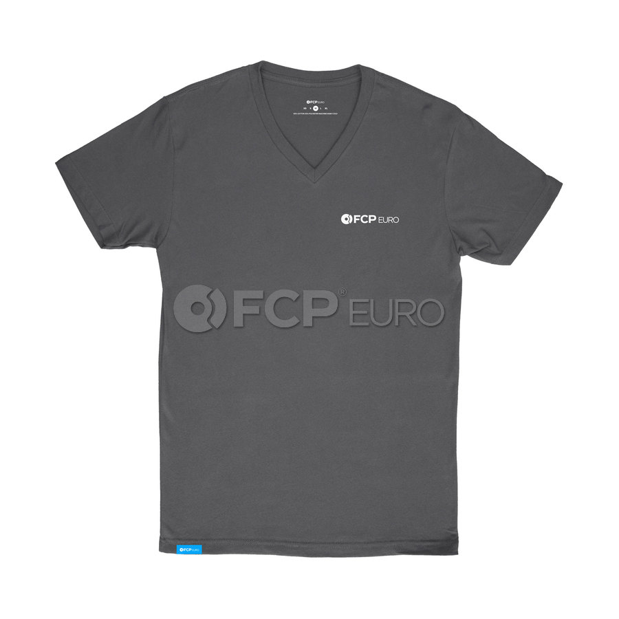 Men's V-Neck T-Shirt (Black) Small - FCP Euro 577249