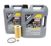 Porsche Engine Oil Change Kit (5W-40) - Liqui Moly/Mahle 996TOILKT