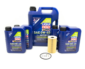 Porsche Engine Oil Change Kit (0W40) - Liqui Moly/Mahle 99610722560KT