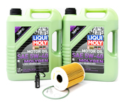 Porsche Engine Oil Change Kit (5W-40) - Liqui Moly/Mahle 92AOILKT