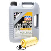 Porsche Engine Oil Change Kit (5W-30) - Liqui Moly/Mann 95BBASEOILKT