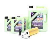 Porsche Engine Oil Change Kit (5W-40) - Liqui Moly/Mahle 9A110722400KT3