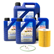 Porsche Engine Oil Change Kit (5W-40) - Liqui Moly/Mahle OX254D4ECOKT