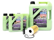 Porsche Engine Oil Change Kit (5W-40) - Liqui Moly/Hengst 987OILKT
