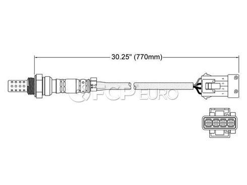 Volvo Saab Oxygen Sensor - Walker 250-24409