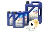 Porsche Engine Oil Change Kit (5W-40) - Liqui Moly/Mahle 987OILKT2
