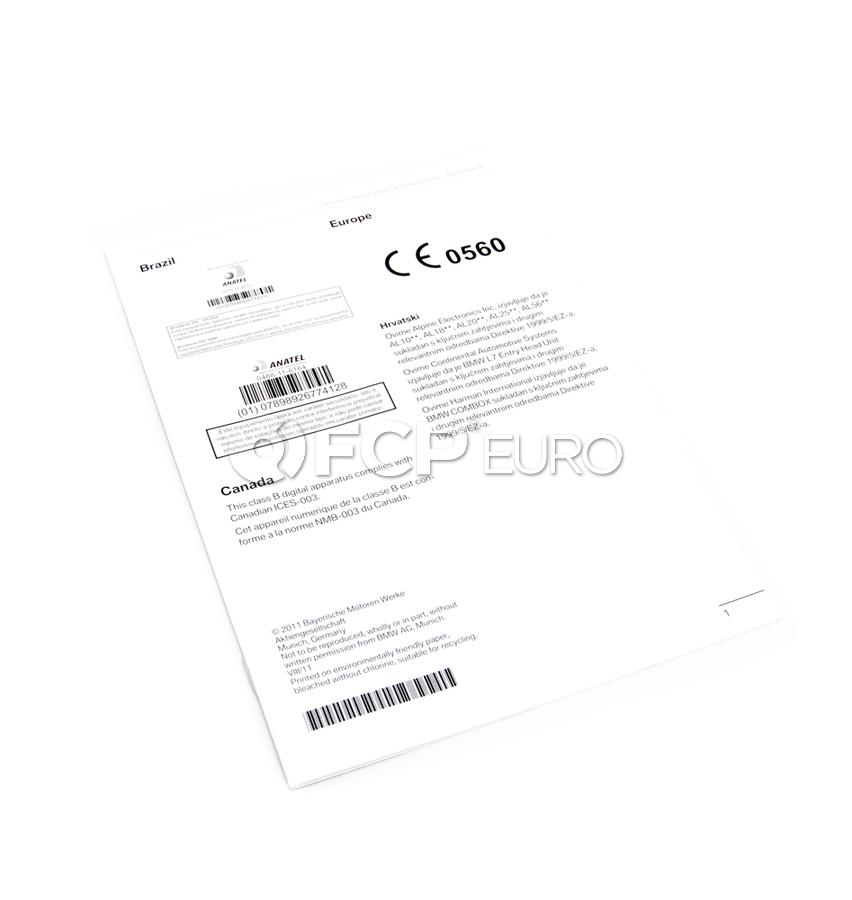 BMW Supplem. Owner'S Handbook License Texts (Multilingual