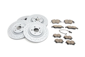 Audi VW Brake Kit - Zimmermann/Akebono 4H0615601QKT2