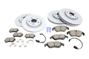 Audi VW Brake Kit - Zimmermann/Akebono 8K0615601BKT4