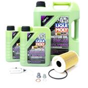 Porsche Engine Oil Change Kit (5W-40) - Liqui Moly/Mahle CGTOILKT