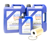 Porsche Engine Oil Change Kit (5W-40) - Liqui Moly/Mahle CGTOILKT2