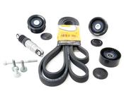 Porsche Accessory Drive Belt Kit - Contitech/INA/Genuine 955BELTKT