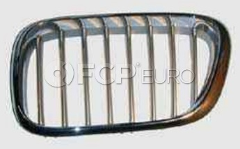 BMW Kidney Grille Left Titanium (X5) - Genuine BMW 51138250051