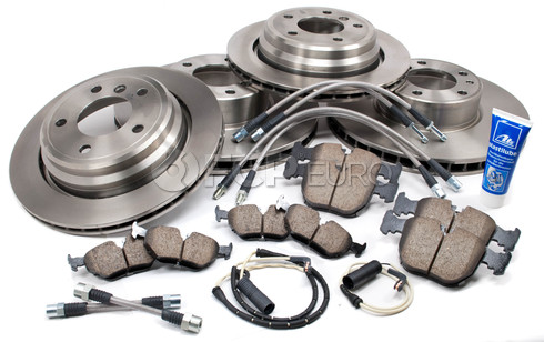BMW Brake Kit Front and Rear (E39 540i) - Brembo/Akebono 34116757747KTFR2