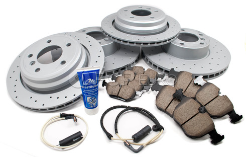 BMW Performance Brake Kit Front and Rear (E39 530i 540i) - Zimmermann/Akebono 34116767059KTFR5