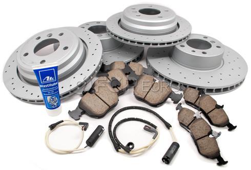 BMW Brake Kit Front and Rear (E39 540i) - Akebono/Zimmermann 34116757747KTFR